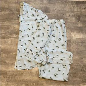 Succulent Pajama Set